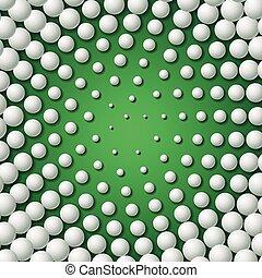 Circular frame made of golf balls