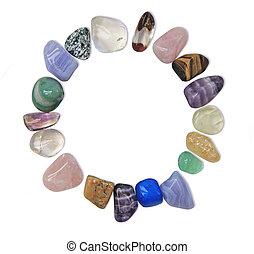 Circular frame of Healing Stones