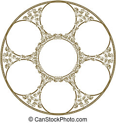 circular frame of seven images