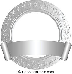 Circular frame with scroll