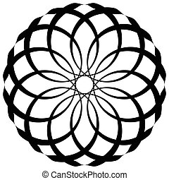 Circular geometric decorative pattern. Abstract round...