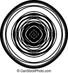 Circular geometric element. Concentric radial limes abstract...