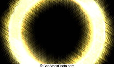 Animation of abstract glowing light - Circular glow. Shiny...