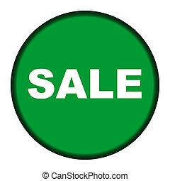 Circular green sale button