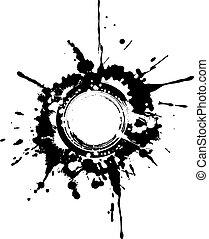 Circular grunge frame