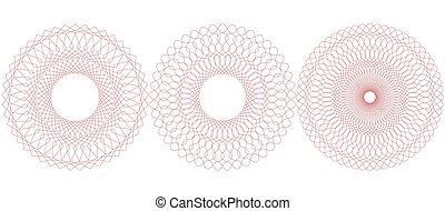 Circular guilloche pattern. Vector illustration. - Guilloche...
