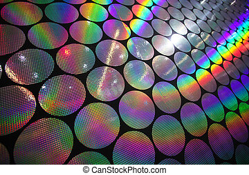 holographic patterns - Circular holographic patterns of on ...