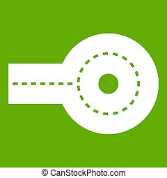Circular impasse icon green
