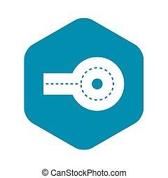 Circular impasse icon, simple style