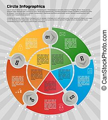 circular infographic design template