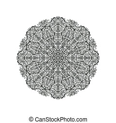 circular lace pattern - vector illustration