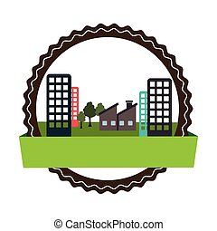 circular landscape with ecology city