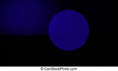 Circular Laser Flares Pan Through