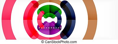 Circular lines design background, vector circle