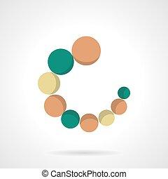 Circular loader flat color vector icon