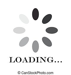 Circular loading sign, isolated on white background, vector illustration