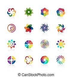Circular logo shapes