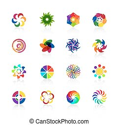 Circular logo shapes
