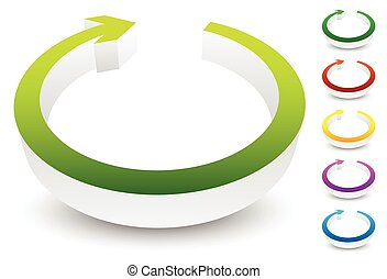 circular, loop, refresh, vector, cycle, clockwise, right, ...