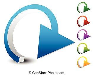 circular, loop, refresh, vector, cycle, clockwise, right,...