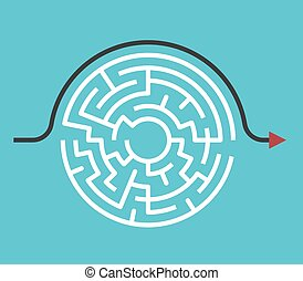 Circular maze, bypass route