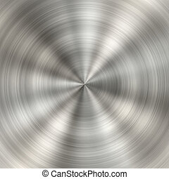 Circular metal brushed texture