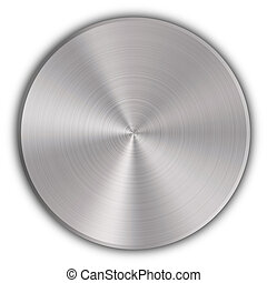 Circular metal button