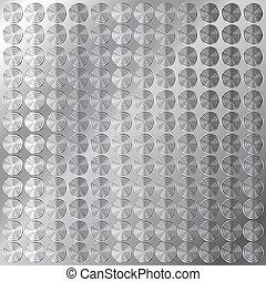 Circular metal pattern background