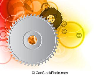 circular on the orange background