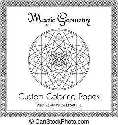 Circular Ornament for Adults Coloring Book