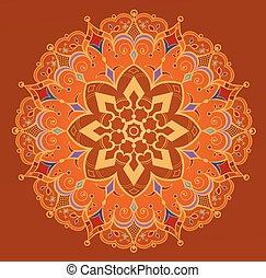 Circular ornament in ethnic style