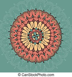 Circular ornamental design. Template for tattoo, cards or else