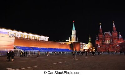 Circular panorama of Red Square in Moscow for holiday on...