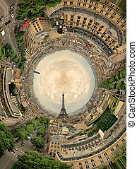 circular panorama Paris.