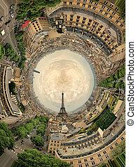 circular panorama Paris.