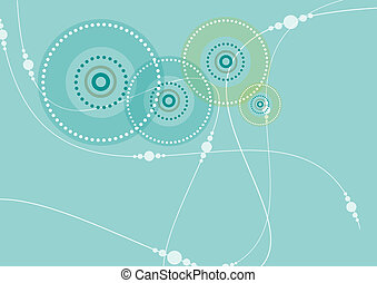 Circular Pattern in Teal - A circular patterned background...