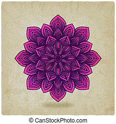 circular pattern mandala old background - vector...