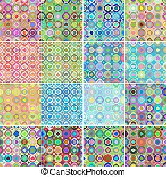 Collection of seamless circular patterns
