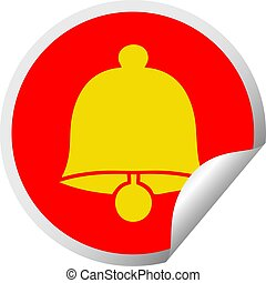 circular peeling sticker cartoon brass bell