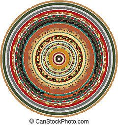 circular, plano de fondo, oriental