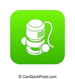 Circular power tool icon green