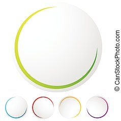 Circular preloader / progress indicator at 5 stages with different colors