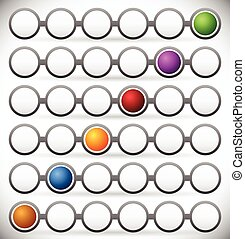 Circular process flow chart element. Color Coded Steps, Phase, Progress Indicators. Dark version.      Circular process flow chart element. Color Coded Steps, Phase, Progress Indicators. Dark version