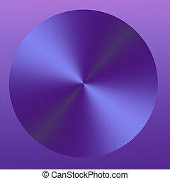 Circular Purple Abstract Button Design