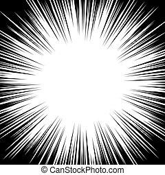 Circular radial black white stipe in pop art style