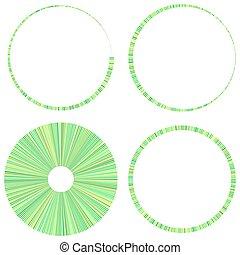 Circular radial lines volute, helix shape design element(s) ? Stock illustration, Clip art graphics