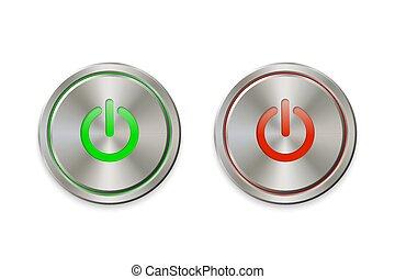 metal power button