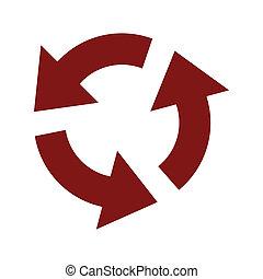 Circular red arrows icon