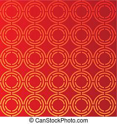 circular red background