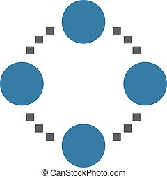 Circular Relations Vector Toolbar Icon